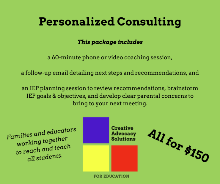 $150 Education Consulting Package